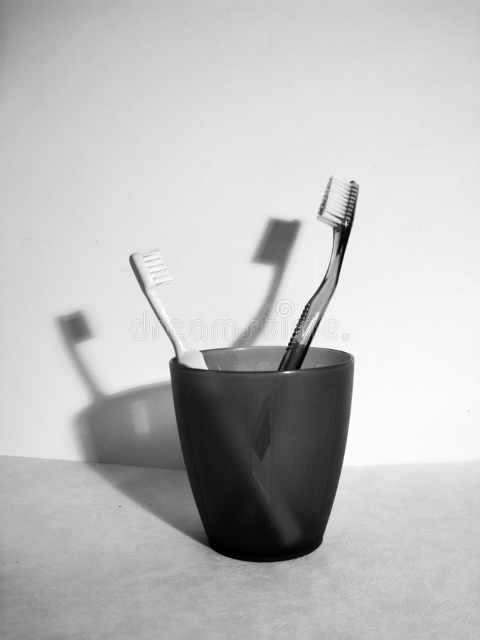 Tandenborstel stock foto's