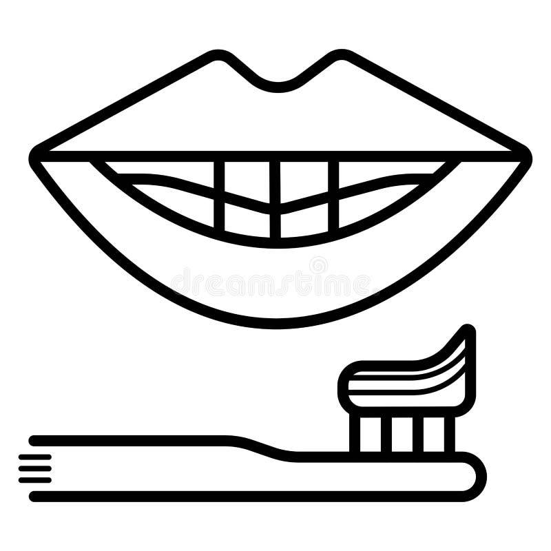 Tandenborstelpictogram vector illustratie