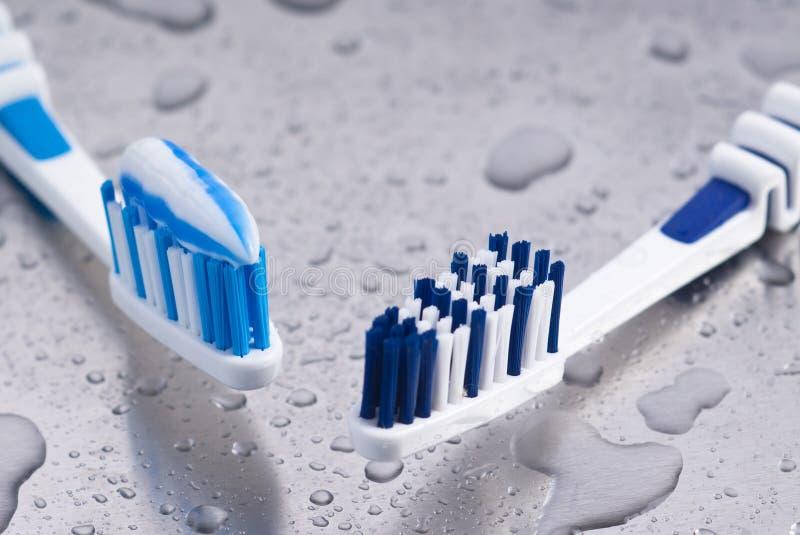 Tandenborstels stock foto's