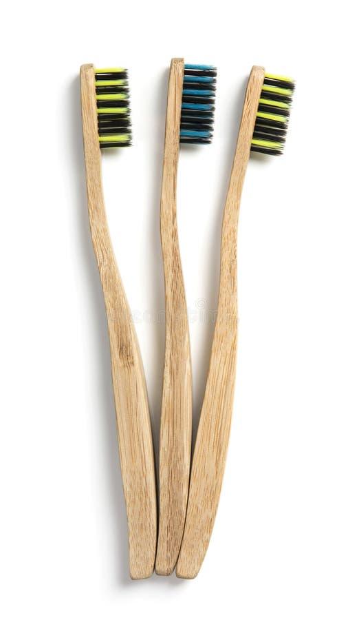 Tandenborstels van het Eco de vriendschappelijke bamboe royalty-vrije stock foto