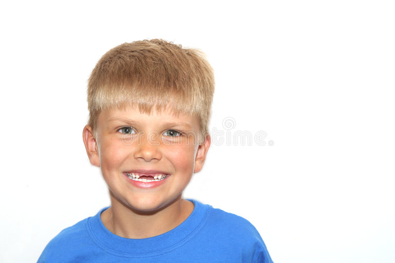 Tandenloze Glimlach royalty-vrije stock foto