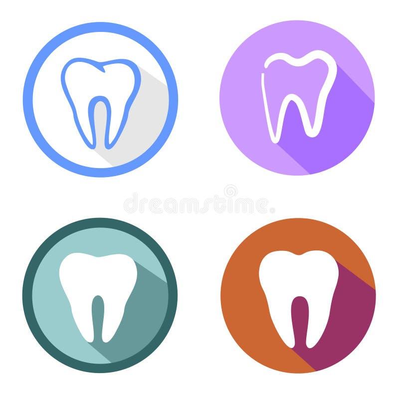 Tandenpictogram vector illustratie