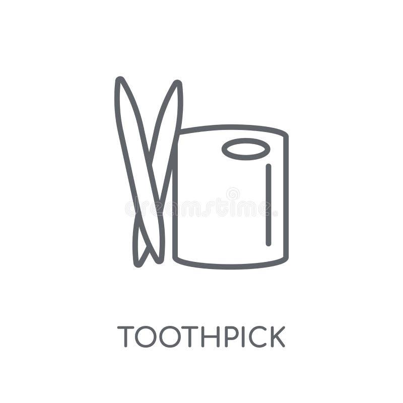Tandenstoker lineair pictogram Modern het embleemconcept van de overzichtstandenstoker  stock illustratie