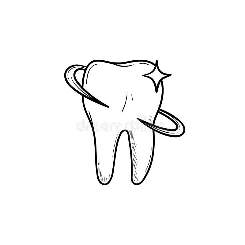 Tandhälsa och drog översikten för tandvård handen klottrar symbolen vektor illustrationer