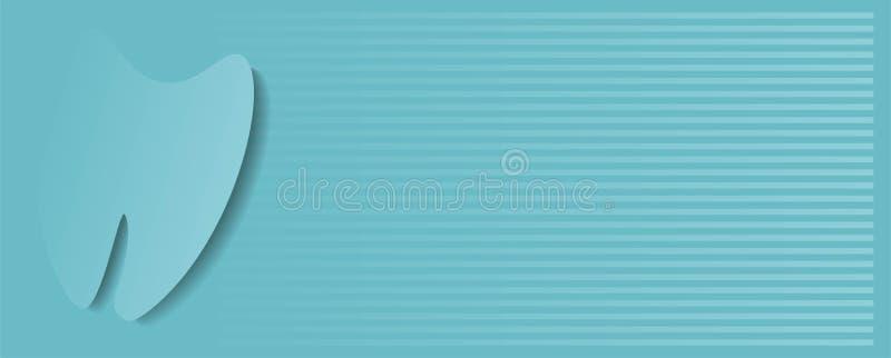 Tandläkare Baner Design TandläkareDental Corporate Blue Baner design vektor illustrationer