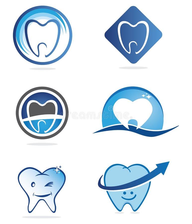 tandläkarelogoer vektor illustrationer