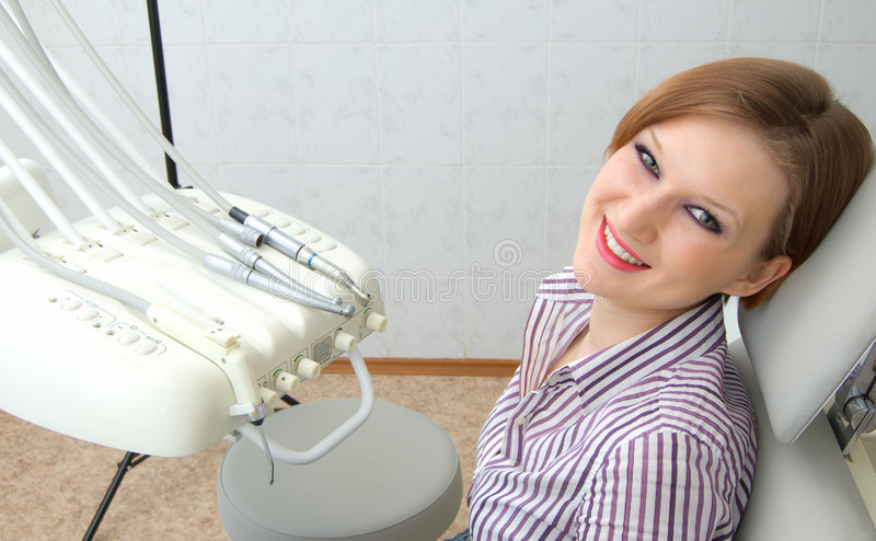 tandläkaretålmodig royaltyfria bilder