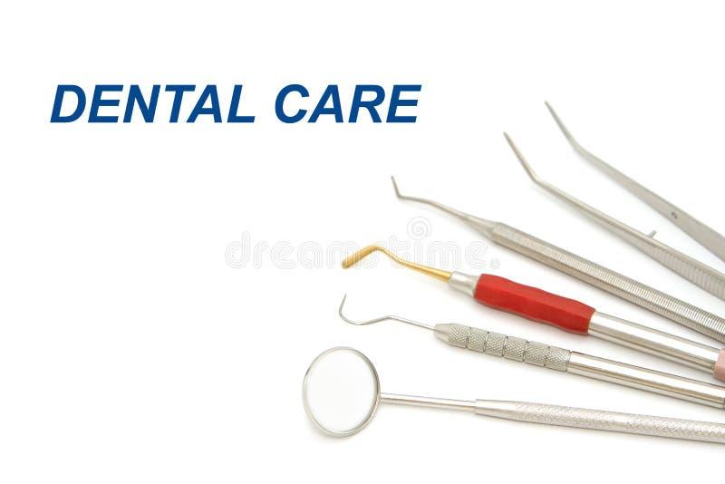 Tandmateriaalhulpmiddelen voor tanden tandzorg royalty-vrije stock afbeelding