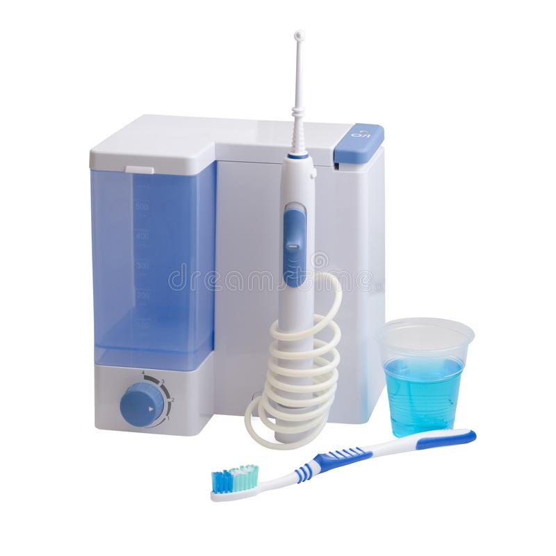 Tandmateriaalzorg Irrigator voor mond stock afbeeldingen