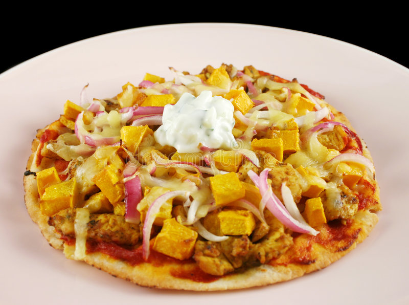 tandoori пиццы лакомки стоковые изображения