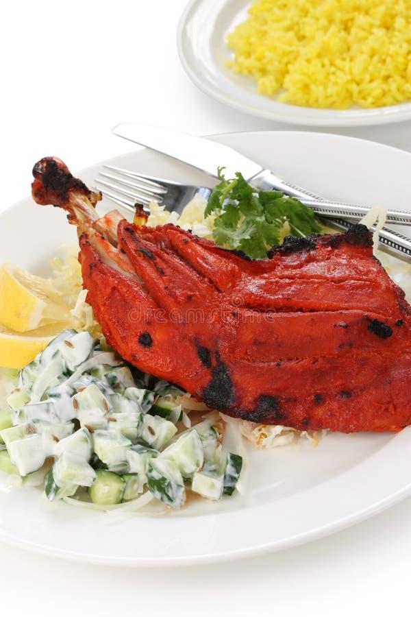 Tandoori chicken , indian dish. On white background stock image