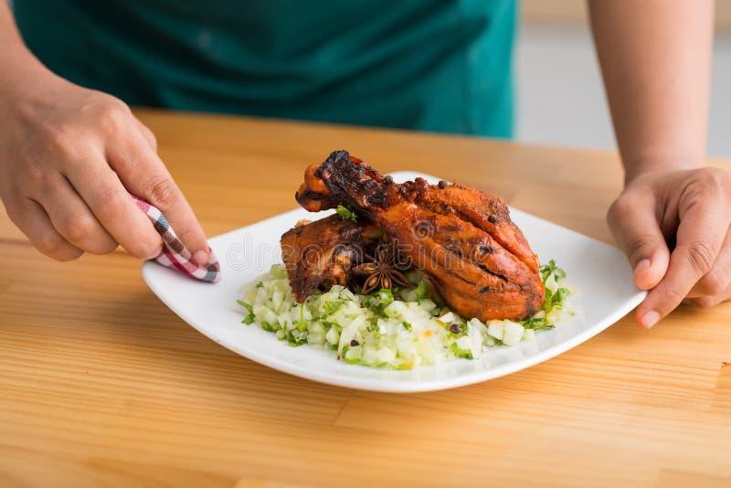 Tandoori chicken royalty free stock photos