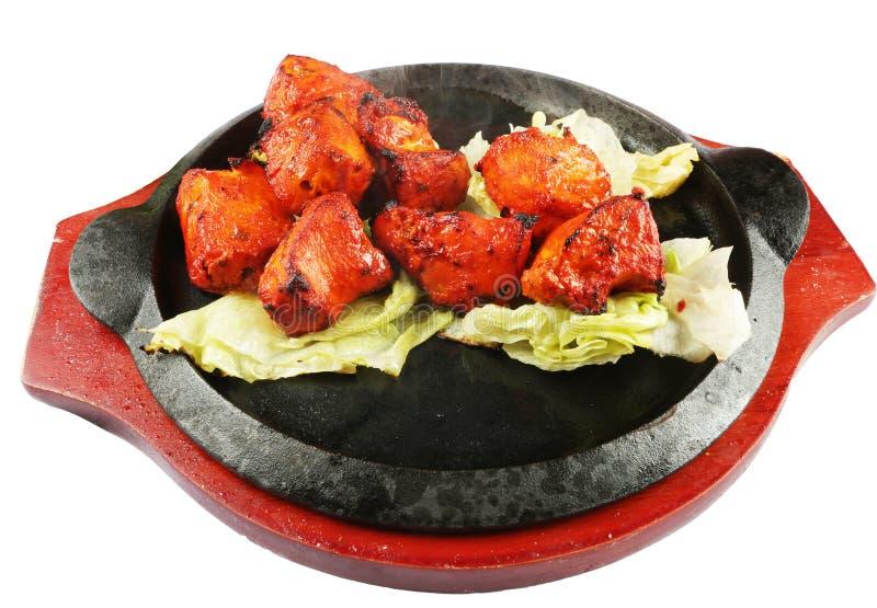 Tandoori chicken tikka. Hot and fresh tandoori chicken tikka for quick meal royalty free stock photography