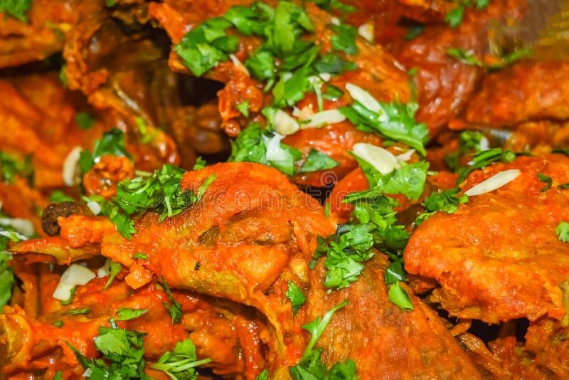 Tandoori kurczak, Indiańska kuchnia, gotująca w kaszmirczykach projektuje zdjęcia stock