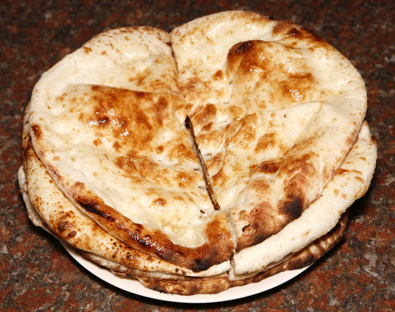 Tandoori naan. Hot and spicy tandoori naan for lunch time royalty free stock photo