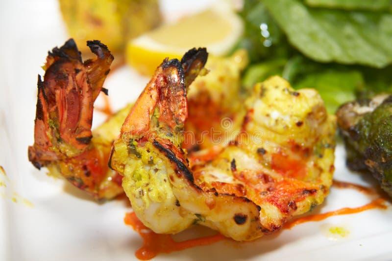 Tandoori shrimp stock photos