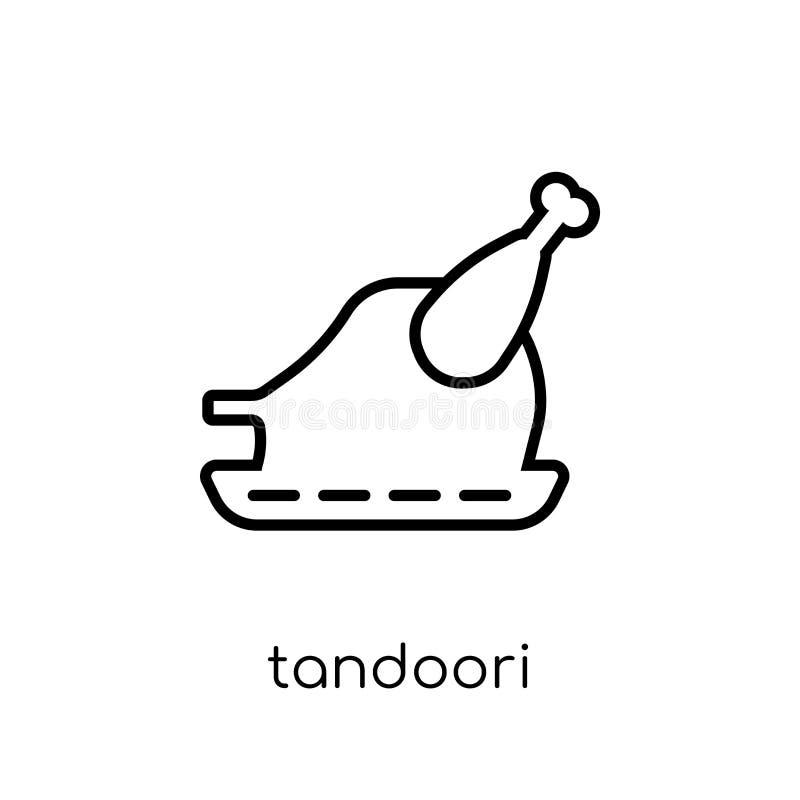 Tandooripictogram In modern vlak lineair vectortandoori-pictogram  royalty-vrije illustratie