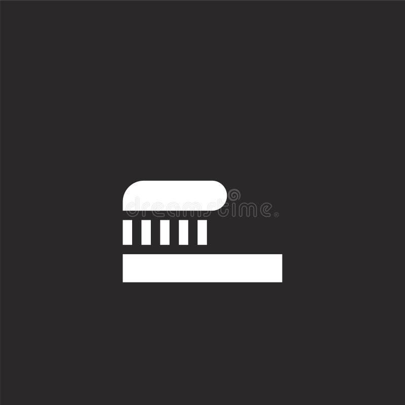 Tandpastapictogram Gevuld tandpastapictogram voor websiteontwerp en mobiel, app ontwikkeling tandpastapictogram van gevulde tandz stock illustratie
