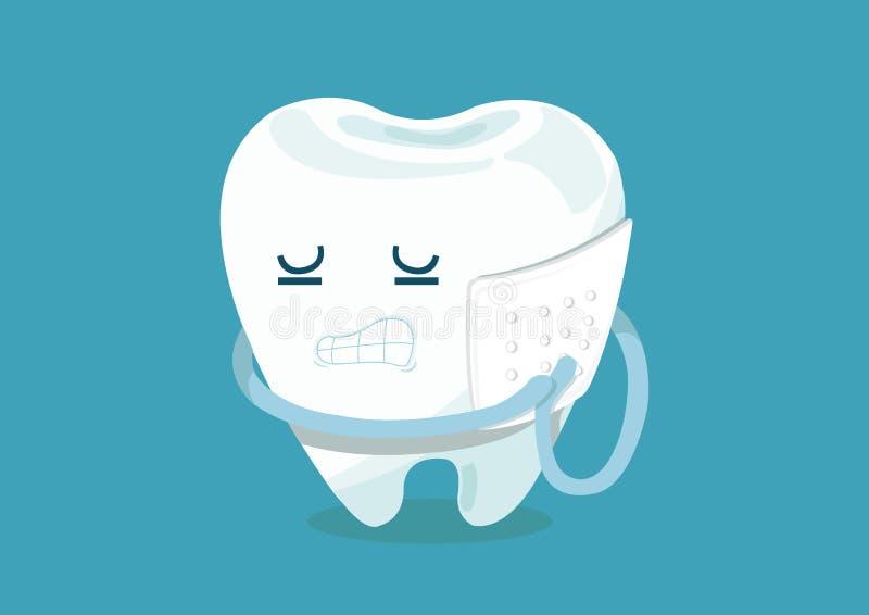 Tandpijn vector illustratie