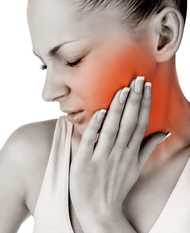 Tandpijn stock afbeelding
