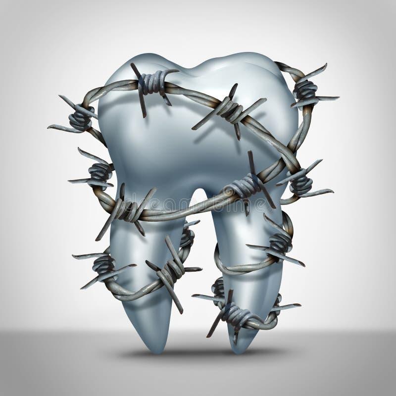 Tandpijn stock illustratie