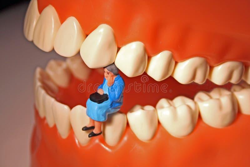 Tandpijn of tandpijn royalty-vrije stock afbeelding