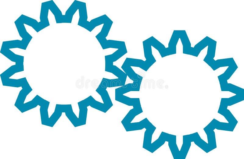 Tandrad vector illustratie