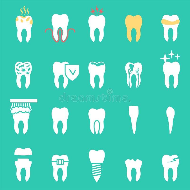 Tandsjukdom, vektor royaltyfri illustrationer
