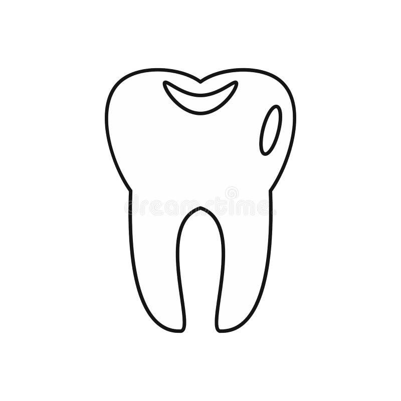 Tandsymbol i översiktsstil royaltyfri illustrationer