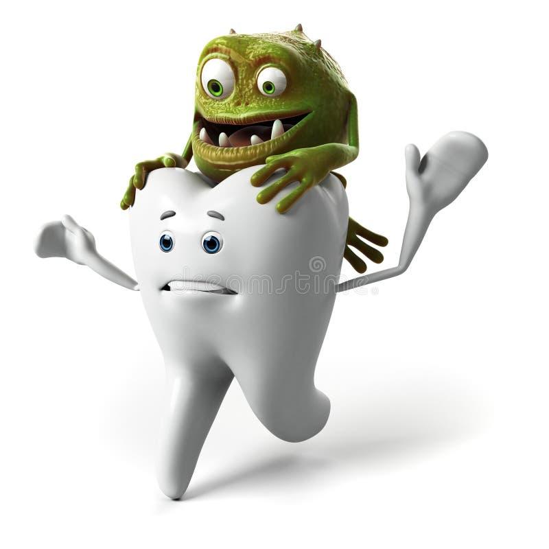Tandtecken vektor illustrationer