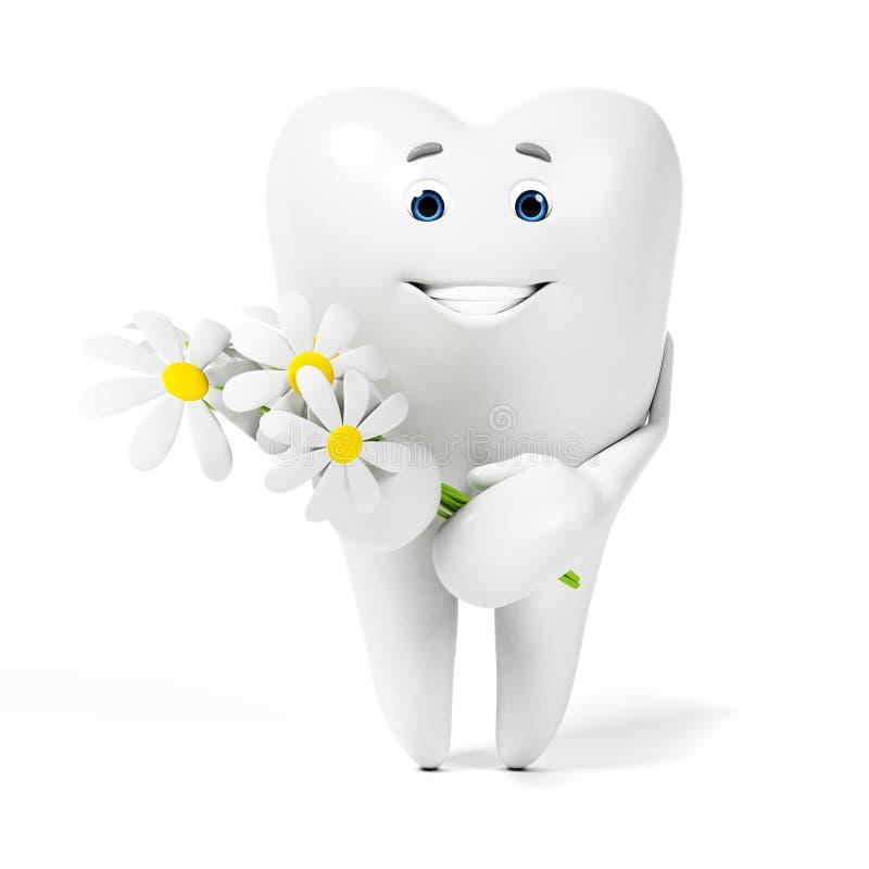 Tandtecken stock illustrationer
