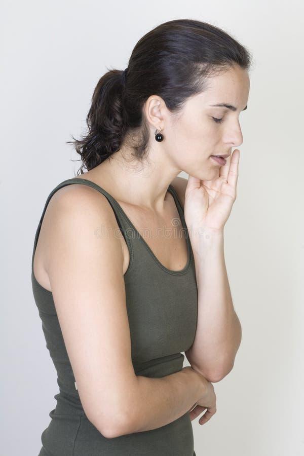 tandvärkkvinna royaltyfria foton