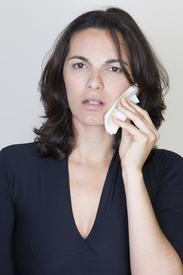 tandvärkkvinna royaltyfri fotografi