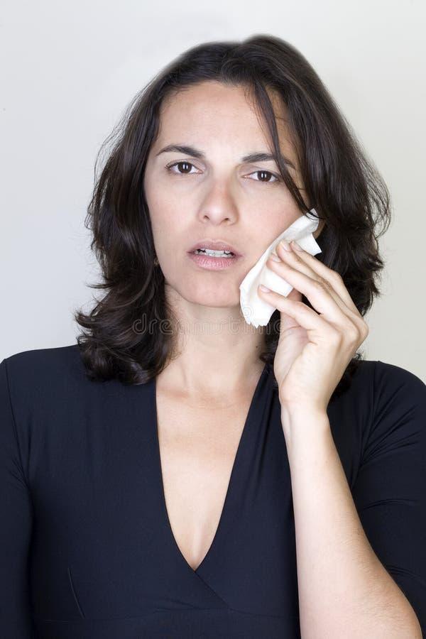 tandvärkkvinna royaltyfria bilder