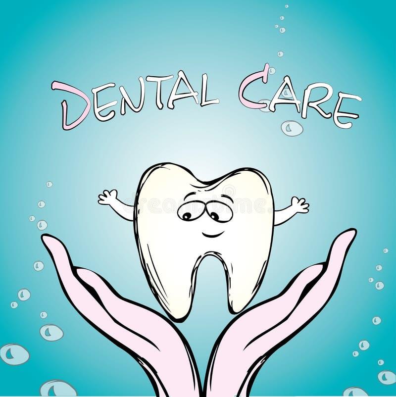Tandvård tand förestående, vektor illustrationer