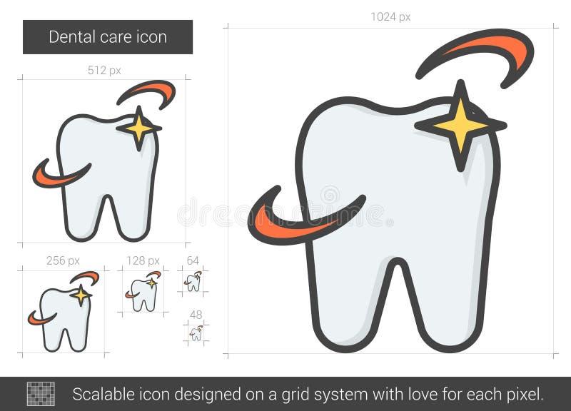 Tandvårdlinje symbol vektor illustrationer