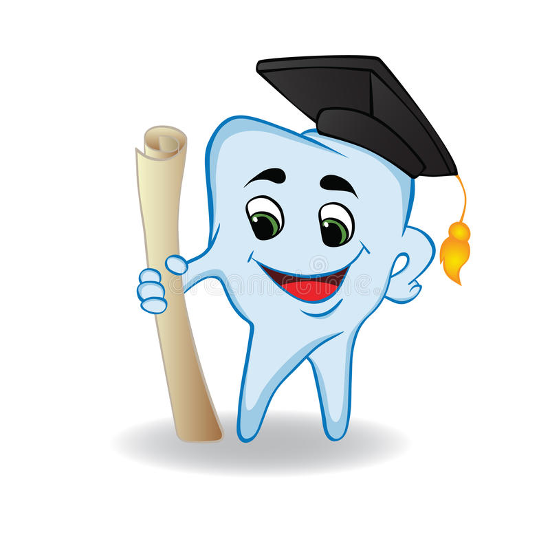 tandvektorvishet stock illustrationer