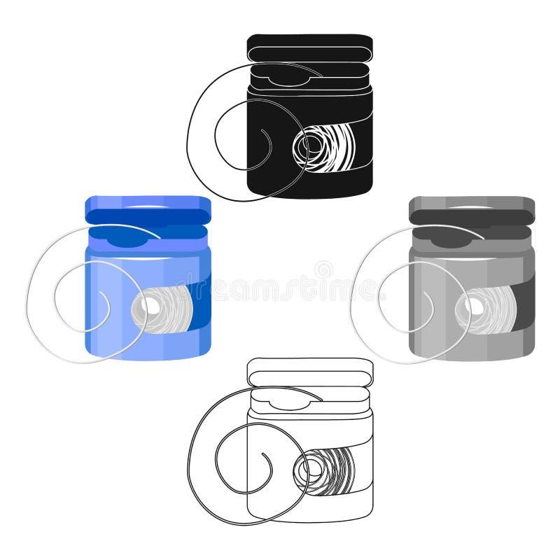 Tandzijdepictogram in beeldverhaal, zwarte stijl die op witte achtergrond wordt geïsoleerd Tand de voorraad vectorillustratie van vector illustratie
