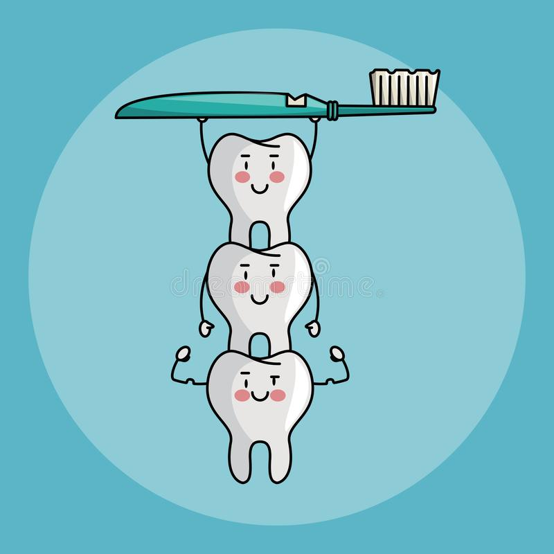 Tandzorgbeeldverhalen vector illustratie