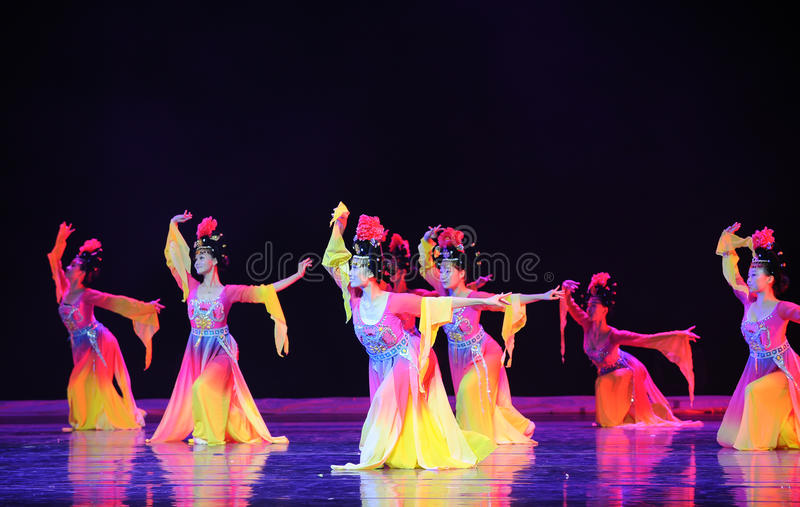 The Tang Dynasty palace music and dance royalty free stock photo