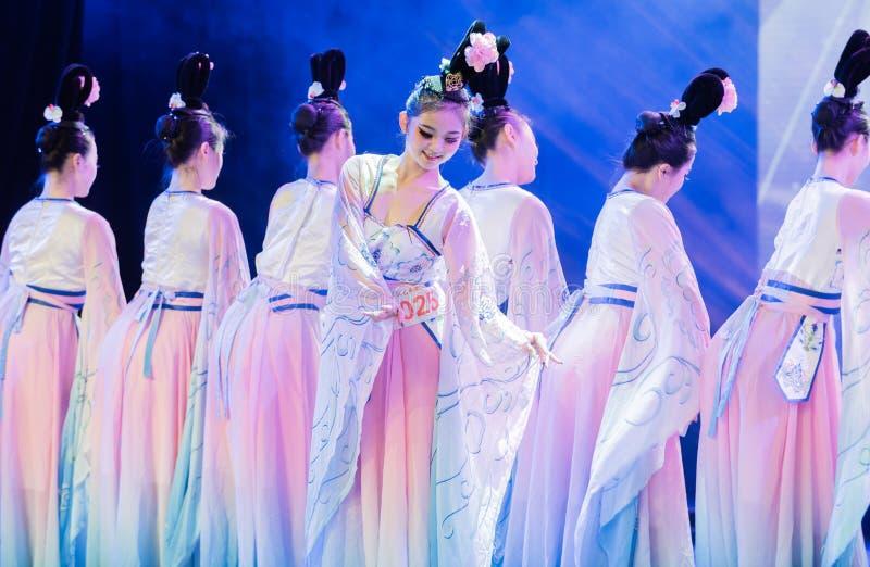 Tang Dynasty prospère 8 - exposition classique chinoise de Danse-obtention du diplôme de département de danse photographie stock