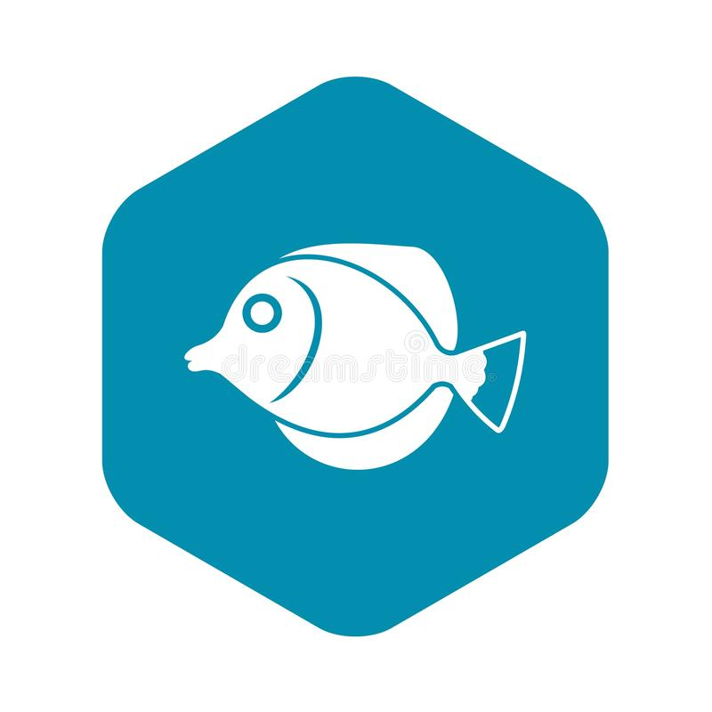 Tang fish, Zebrasoma flavescens icon. In simple style isolated vector illustration vector illustration
