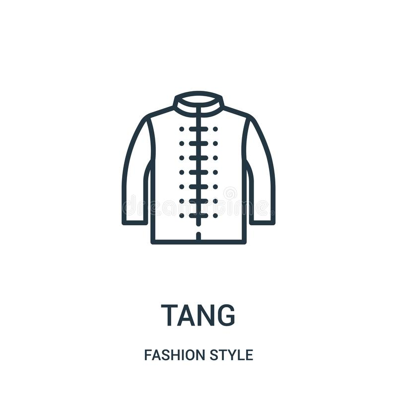 Tang icon vector from fashion style collection. Thin line tang outline icon vector illustration. Linear symbol for use on web and mobile apps, logo, print stock illustration