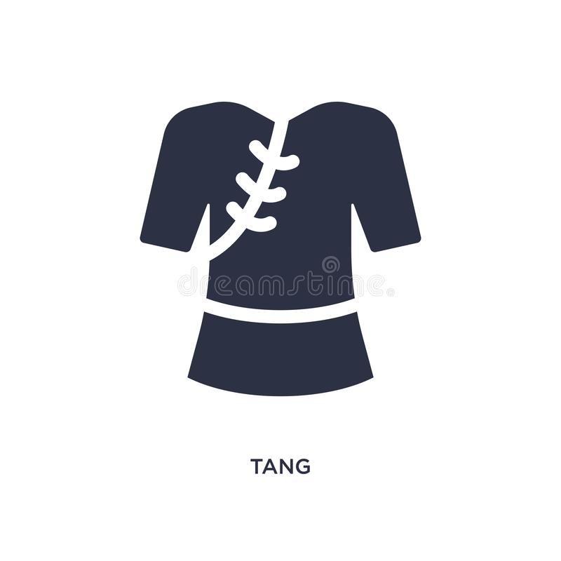Tang icon on white background. Simple element illustration from asian concept. Tang isolated icon. Simple element illustration from asian concept. tang editable stock illustration