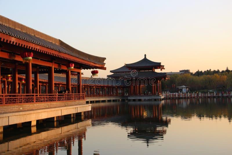 Tang Paradise av Xian royaltyfri foto