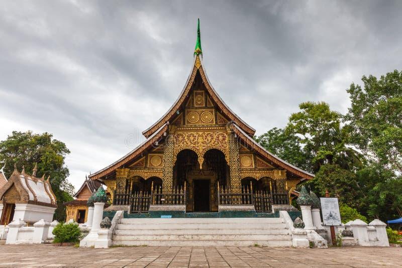Tanga de Wat Xieng, Luang Prabang, Laos imagem de stock