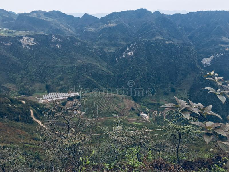 Tangba-Erholungsort-Erholungsortnaturschutzgebiet China stockfoto