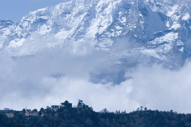 Tangboche in Nepal lizenzfreie stockfotos