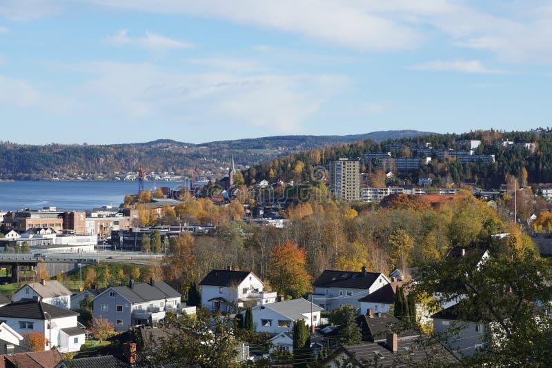 Tangen,德拉门,挪威 库存图片