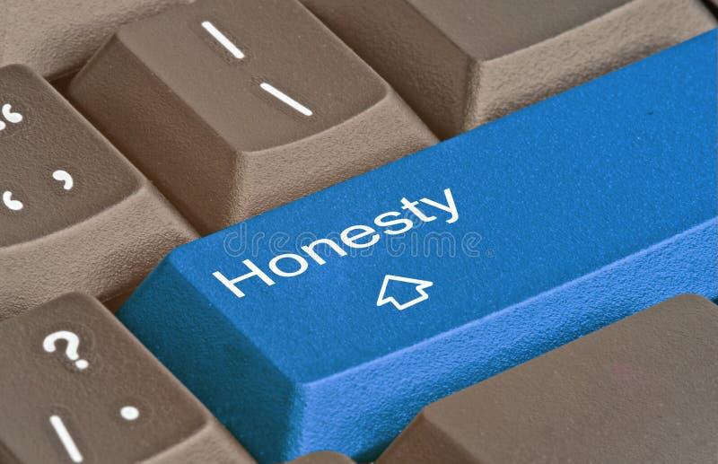 Tangent för ärlighet arkivfoto
